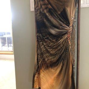 Sky Strapless Beaded Cocktail Dress